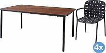 Emu Yard Ash Gartenset 160x98 Tisch   4 Stühle (armchair)