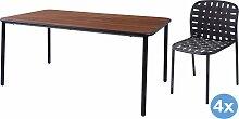 Emu Yard Ash Gartenset 160x98 Tisch   4 Stühle
