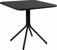 Emu Yard Folding Square Table Tisch Schwarz 80x80 (l) 80 X (b) 80 X (h) 74 Cm