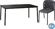 Emu Yard Gartenset 160x98 Tisch + 4 Stühle (Chair)