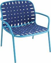 Emu Yard Lounge Sessel Blau (b) 73 X (t) 71.5 X (h) 77 Cm