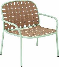 Emu Yard Lounge Sessel MintgrünBeige (b) 73 X (t) 71.5 X (h) 77 Cm