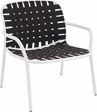 Emu Yard Lounge Sessel Weiß/Braun (b) 73 X (t) 71.5 X (h) 77 Cm