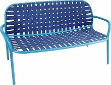 Emu Yard Two Seats Sofa Blue/Blue (b) 139 X (d) 84