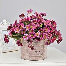 Emulation Blume gänseblümchen Afrika Ju Kit künstliche Blumen aus Seide Blumen Sträuße, Blumen Dekoration Wohnzimmer Esstisch home Ornamente floralen, Violett Grand