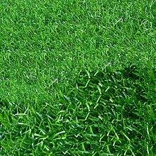 Emulation Kunststoff Rasen Teppich, Spielplatz Balkon Kindergarten Teppich mit Grünem Gras, Sonnenschutz Einfach Zu Säubern Flammhemmend Rasen Fußmatten, Dicke: 20 mm 1M * 1M