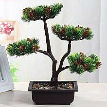 Emulation Willkommen Pine Topf Falsch Bonsai