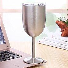 EMVANV Weinglas 284 ml Edelstahl Weingläser mit
