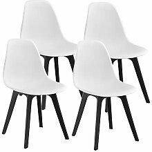 [en.casa] 4X Design Stühle 83 x 54 x 48cm