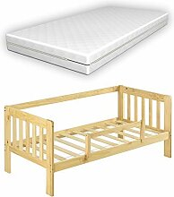 [en.casa] Kinderbett mit Matratze und