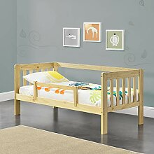 [en.casa] Kinderbett mit Rausfallschutz 70x140 cm