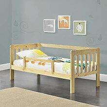 [en.casa] Kinderbett mit Rausfallschutz 80x160 cm