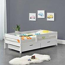 [en.casa] Kinderbett mit Rausfallschutz und