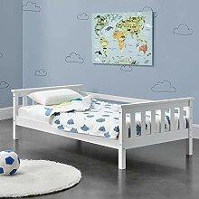 [en.casa] Kinderbett mit Stauraum 80x160 cm