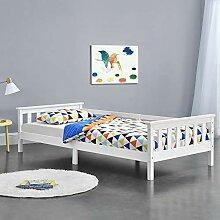 [en.casa] Kinderbett mit Stauraum 90x200 cm