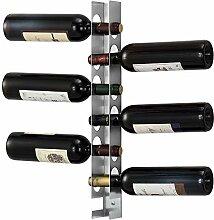 [en.casa] Modernes Weinregal für 6 Flaschen