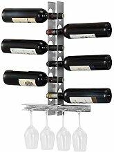[en.casa] Modernes Weinregal für 6 Flaschen mit