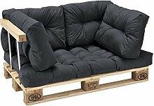 [en.casa] Palettenkissen - 5er Set - Sitzpolster +