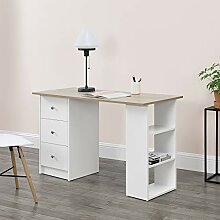[en.casa] Schreibtisch 120x50x72cm mit 3