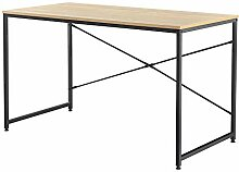 [en.casa] Schreibtisch 120x60x72cm Eiche-Optik