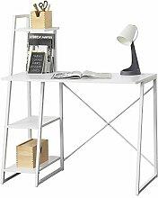 [en.casa] Schreibtisch Aalborg mit Regal