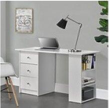 en.casa Schreibtisch, Lemberg Bürotisch mit Regal