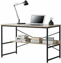 [en.casa] Schreibtisch mit Ablage 75 x 120 x 60 cm