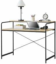[en.casa] Schreibtisch mit Ablage 92 x 120 x 60 cm