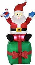 [en.casa] Weihnachtsmann 180cm LED Beleuchtet