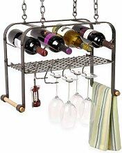 Enclume Aufhängen Wein, Glas, und Zubehör Rack,