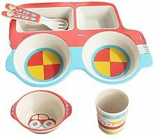 Encoco Kinder-Geschirr-Set in Auto-Form, aus