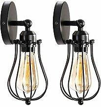 ENCOFT 2 er Pack Wandlampe Vintage Industrial E27