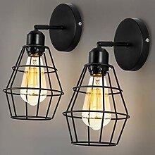 ENCOFT 2er Pack Wandlampe Vintage Industrial E27