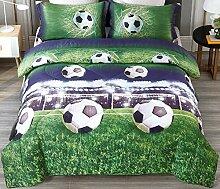 ENCOFT 3D Comforter Bettwäsche-Set Twin fußball