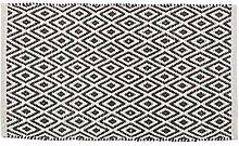endencio Teppich, Ethno-Design, Baumwolle, 80 x 50