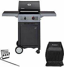 Enders Boston Black 2 Turbo - BBQ Gasgrill Bundle