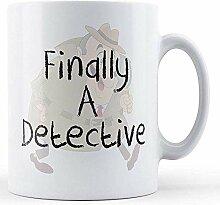 Endlich eine detektivisch bedruckte Tasse