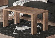 Endo Couchtisch Nela Wohnzimmertisch 100x55cm Modern Tisch Ablage 100cm Design // Nussbaum