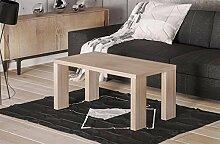 Endo Couchtisch Nela Wohnzimmertisch 110x60cm Modern Tisch Ablage 110cm Design // Sonoma Eiche