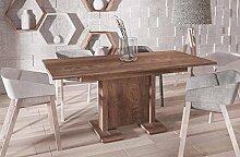 Endo Esstisch Endo Davos 210 ausziehbar erweiterbar Küchentisch Säulentisch Tisch // Nussbaum