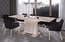Endo Esstisch Linea 210 ausziehbar erweiterbar Küchentisch Esszimmertisch Säulentisch // Sonoma Eiche