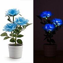 Energie Solar 3LED Rosa Blume Lampe Landschaft