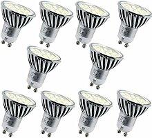 Energmix 10x GU10 LED Lampe 4W 400 lm - Warmwei