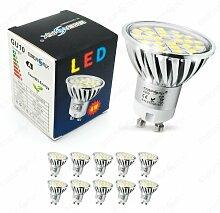 Energmix 10x GU10 LED SPOT Lampe LED Strahler-