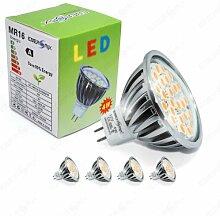 Energmix 2380x4 4x MR16 GU5.3 SMD LED SPOT Lampe