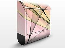 Energy 39x46x13cm Briefkasten, Standbriefkasten, Briefkästen, Wellen, Moderne Kunst, Linien
