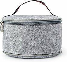 Enerhu Isolierten Mittagessen Aufbewahrungsbox Handtasche Grau S (D*H)17*10cm