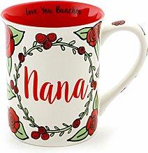 Enesco 4057553 Kaffeebecher Nana aus Steingut,