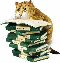 ENESCO A23826 Comic & Curious Cats Figur Buchclub