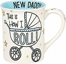 Enesco Our Name is Mud Kaffeebecher How I Roll New